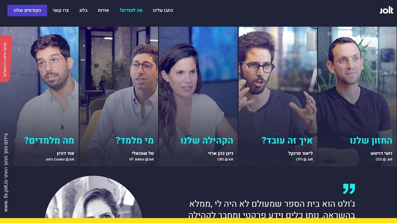 ליאור פרנקל והשותפים ב-Jolt, צילום מסך מהאתר tlv.jolt.io